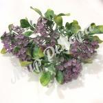 Заячья капуста сиреневая декоративная искусственная трава для флористов и декораторов