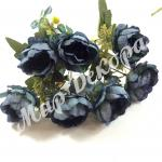 Роза пионовидная синяя.