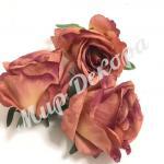 Голова розы, 10 шт. лиловый