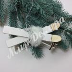 Декор новогодний деревянный. « Лыжи белые»