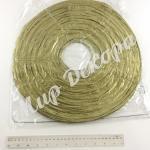 Китайский фонарик золотой.  40 см.