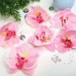 Голова орхидеи. Розовая . 10 см . 10 шт