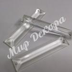 Кристалл прямоугольный 2/12 см.  13 шт. Стекло