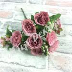 Букет роз с бутонами . Розовый нектар