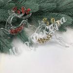 Новогоднее украшение «Олени лёд»