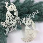 Новогоднее украшение « Ангел с голубем «
