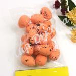 Яйца перепелиные 18 штук, оранжевые.