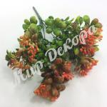 Куст с ягодками . Оранжевый