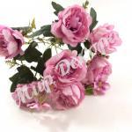 Роза пионовидная розовая.
