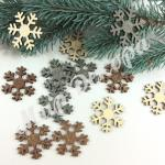 Деревянная снежинка для украшения новогодних праздников