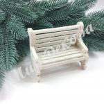 Новогоднее украшение « Лавочка белая»