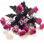 Роза пионовидная мелкая. Сиреневая.