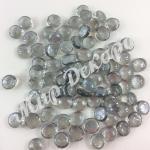Камни из стекла 400 грамм. Светло серый.