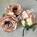 Голова розы, 10 шт. капучино