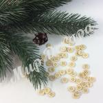 Пуговицы деревянные мелкие для новогоднего декора