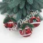 Новогодние тканевые шары. Красные