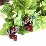 Виноград мелкий 7 см , 12 шт. Красный.