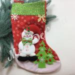 Большой новогодний носок для подарков купить оптом