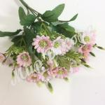 Букет мелких хризантем . Розовый