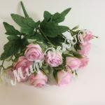 Букет роз с бутонами. Розовый