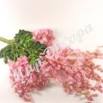 Ветка глицинии нежно розовая . 6 штук.