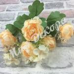 Букет пионовидной розы с добавками. Шампань