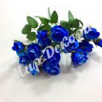 Букет из бутонов мелких роз.  Синий.