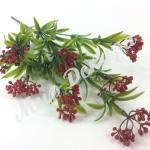 Куст зеленый с ягодками декоративный искусственный