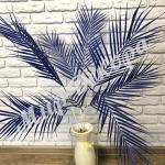 Ветка пальмы. Синий
