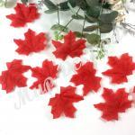 Листья осенние одинарные . Красные . 50 штук