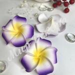 Цветок гаваи 6,5 см. Фиолетовый
