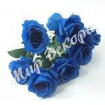 Букет роз сатиновый 7 голов . Синий