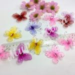 Бабочки из органзы 5,5 см . 20 шт.