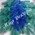 Лист коралла блестящий декоративный новогодний декор купить оптом