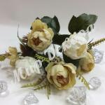 Букет розы пионовидной.  Бежевый айвори