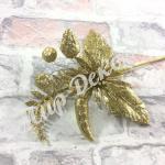 Новогоднее украшение золотое. 6 штук