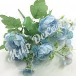 Букет пионовидной розы с добавками. Голубая.