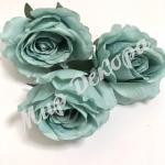 Голова розы, 10 шт.  голубой