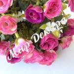 Букет из мелких роз . Темно розовый.