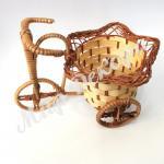 Велосипед плетеный  для искусственных цветов