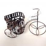 Кашпо велосипед металлический для создания цветочных композиций