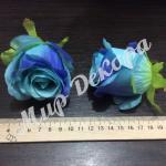 Голова розы. Мятно синий.