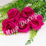 Голова розы, лиловый, 10 шт.