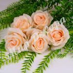 Голова розы, персиковый, 10 шт.