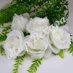 Голова розы, белый, 10 шт.