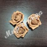 Голова розы латексной 6 см. Шоколад.20 шт.