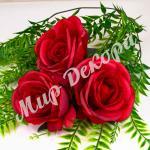 Голова розы, красный, 10 шт.