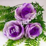 Голова розы, фиолетовый, 10 шт.