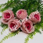 Голова розы, розовый, 10 шт.