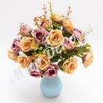 Букет роз, сиреневый-шампань